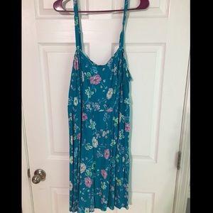 Torrid Blue Floral Dress NWOT